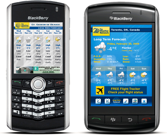 WeatherEye� BlackBerry� and BlackBerry� Storm