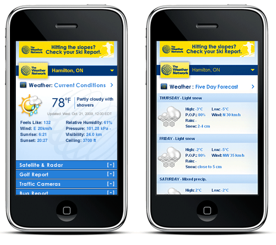 The Weather Network MobileWeb Redesign